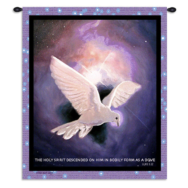 Christian Decor-Choice-Wall Hanging-Tapestry-Throw-Holy Spirit-White Dove