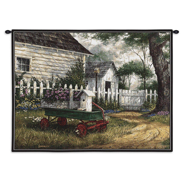 Tapestry-Wall Hanging-26 x 34-Country Life-Antique Wagon