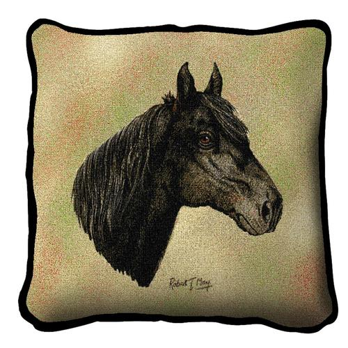 Throw Pillow-17 x 17-Animal Lover-Morgan-Horse