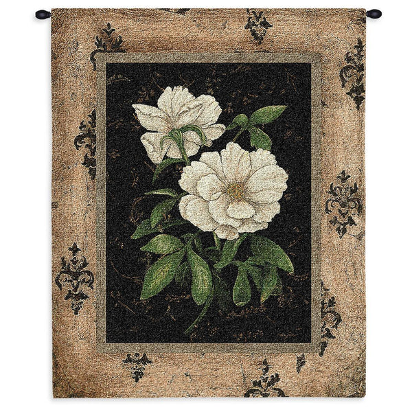 Tapestry-Wall Hanging-26 x 35-The Cozy Home-Silver Peony