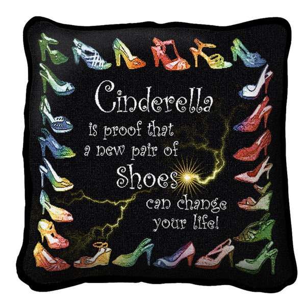 Throw Pillow-17 x 17-The Cozy Home-Cinderella's Shoes