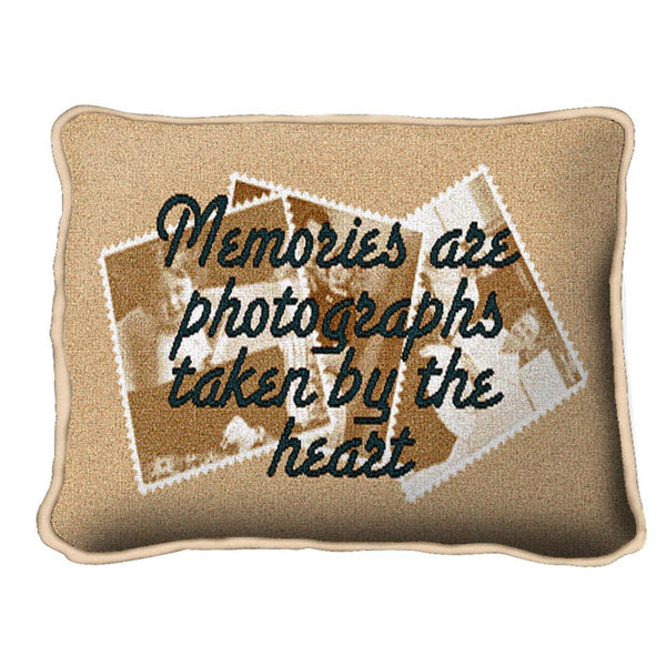Throw Pillow-12 x 8-Positive Thoughts-Memories