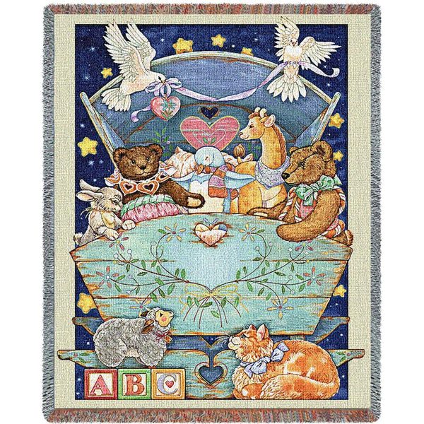 Throw Blanket-54 x 70-Woven-Babies-Children-Baby Cradle