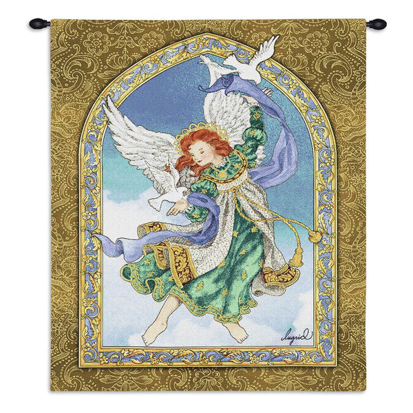 Christian Decor-Choice-Tapestry-Wall Hanging-Throw-Peaceful Angel