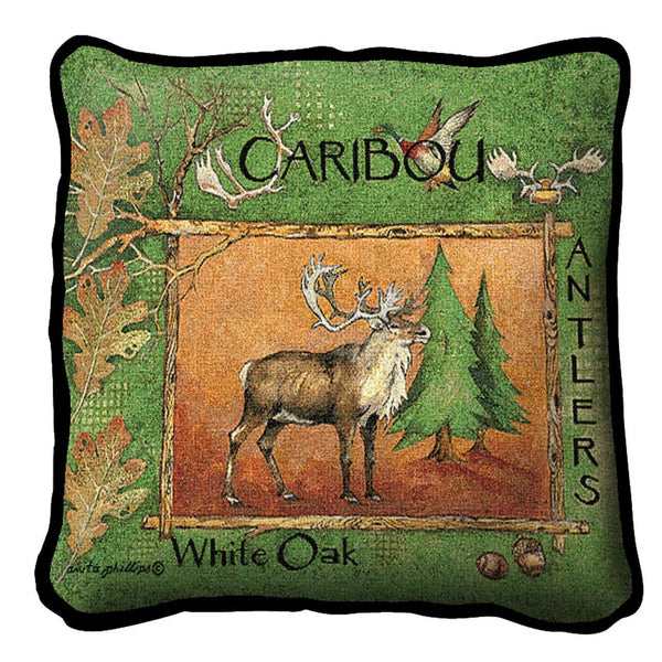 Throw Pillow-Caribou-The Rustic Look