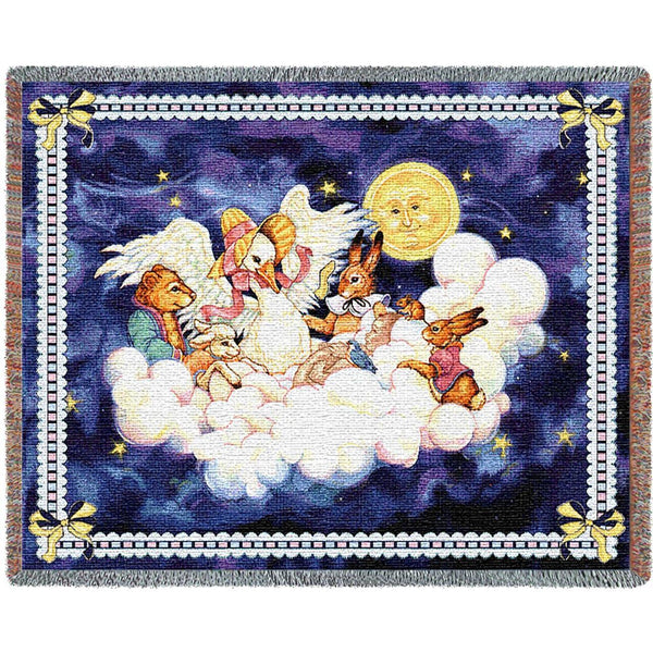 Throw Blanket-54 x 72-Woven-Babies-Children-Mother Goose