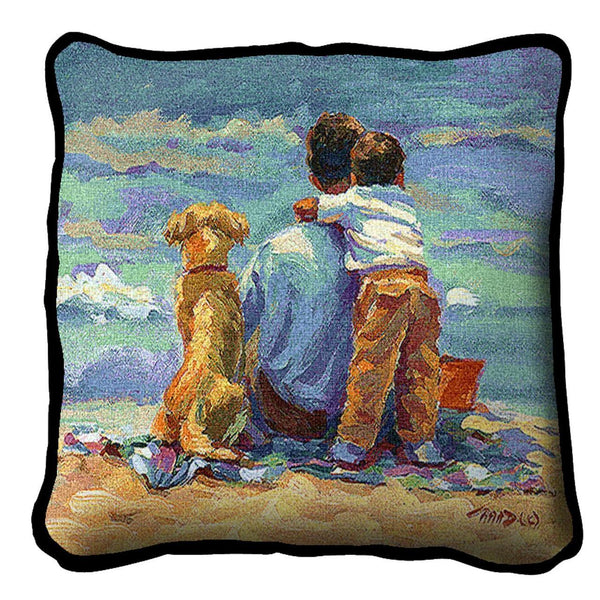 Throw Pillow-17 x 17-Friends-Family-Treasured Moment