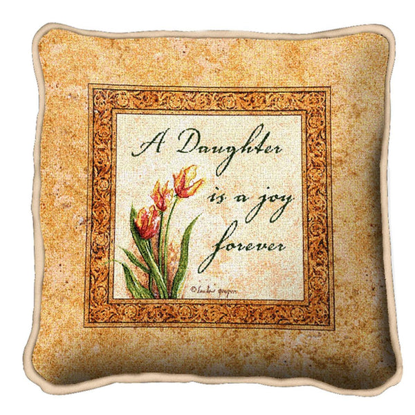 Throw Pillow-Daughters Forever-Friends and Family