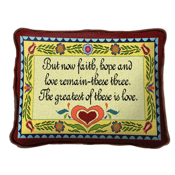 Throw Pillow-12 x 8-Christian-Positive Thoughts-Love