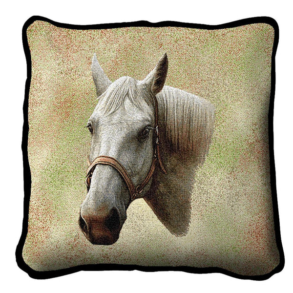 Throw Pillow-17 x 17-Animal Lover-Quarter Horse