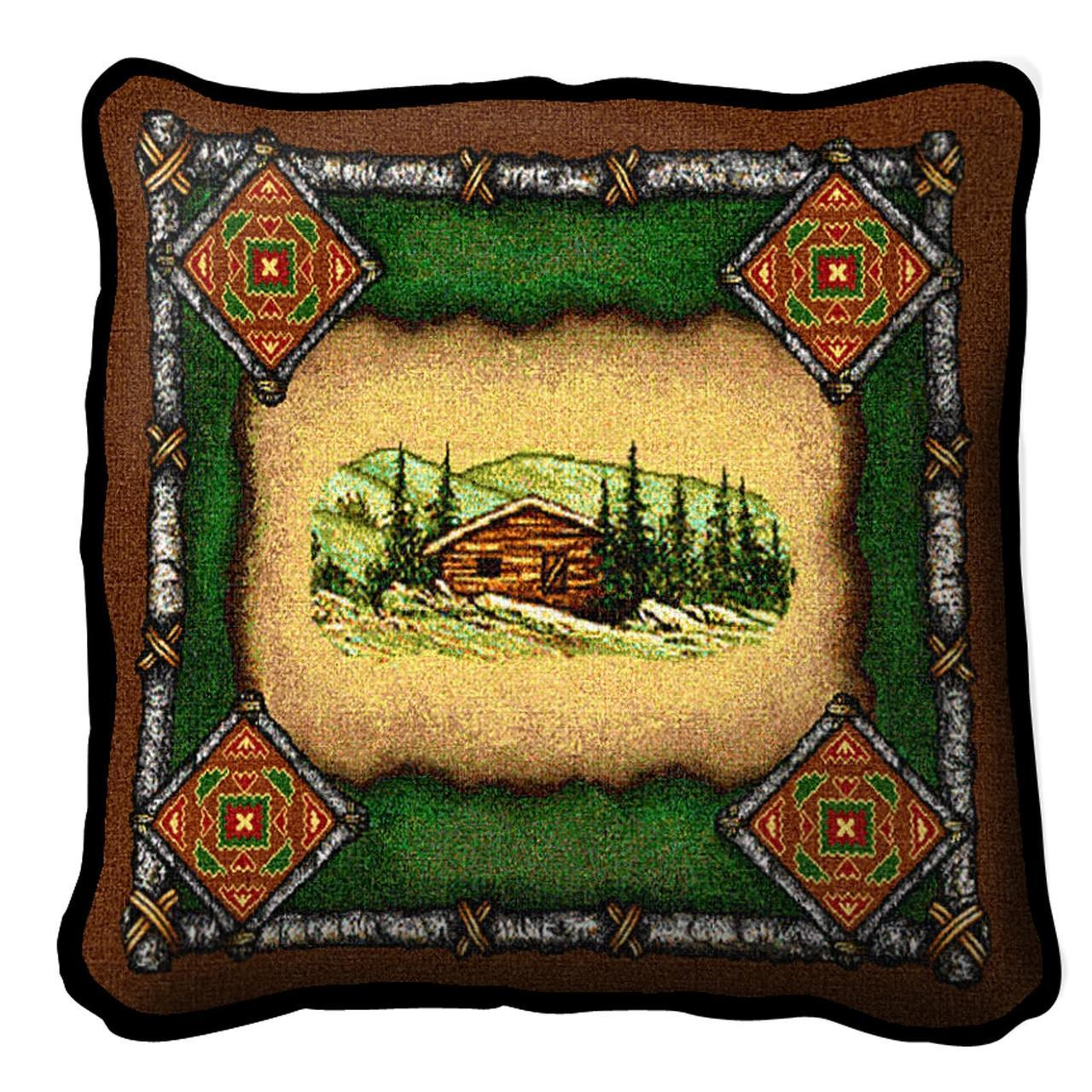 Throw Pillow-17 x 17-Rustic-Cabin-Lodge