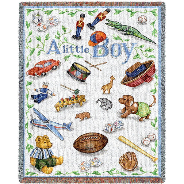 Throw Blanket-45 x 54-Woven-Babies-Children-Little Boy