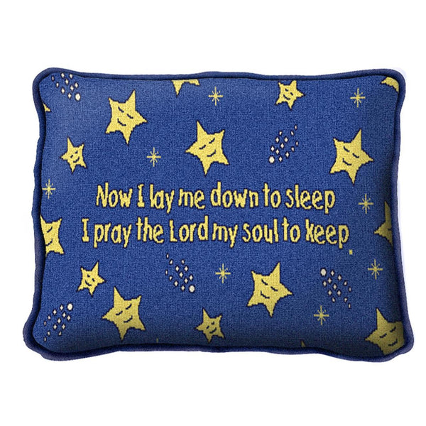 Christian Children-Throw Pillow-12 x 8-Now I Lay Me