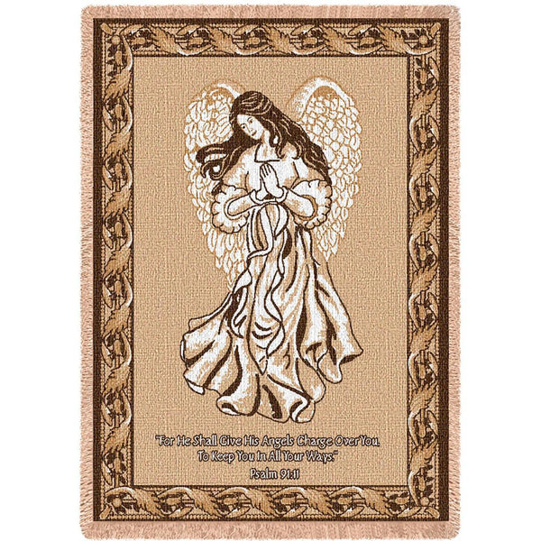 Christian Decor-Throw Blanket-50 x 70-Angel-Neutral Colors