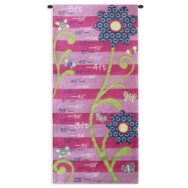 Growth Chart-Girl-Boy-Flowers-Animals-Babies-Children-The Kids