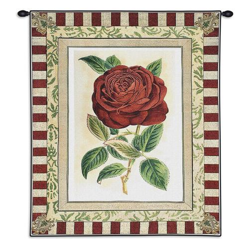 Tapestry-Wall Hanging-26 x 33-The Cozy Home-Red Rose