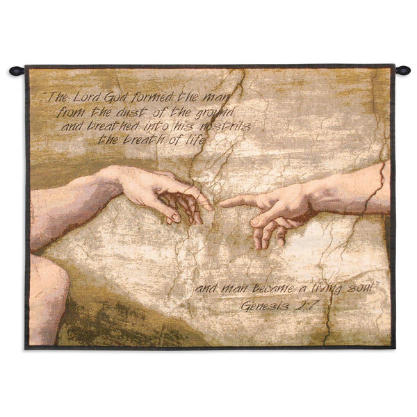 Christian Decor-Choice-Tapestry-Wall Hanging-Throw-Genesis 2:7