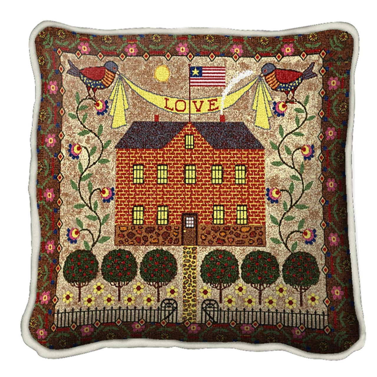 Throw Pillow-17 x 17-Americana-Home Sweet Home