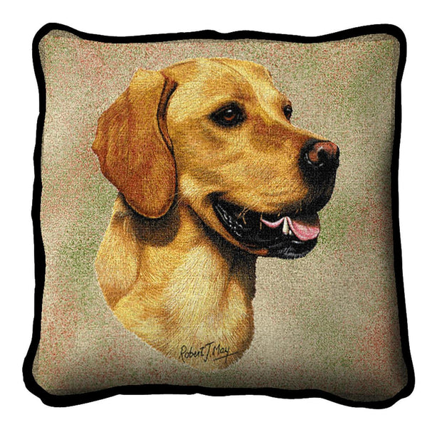 Throw Pillow-17 x 17-Animal Lover-Labrador Retriever