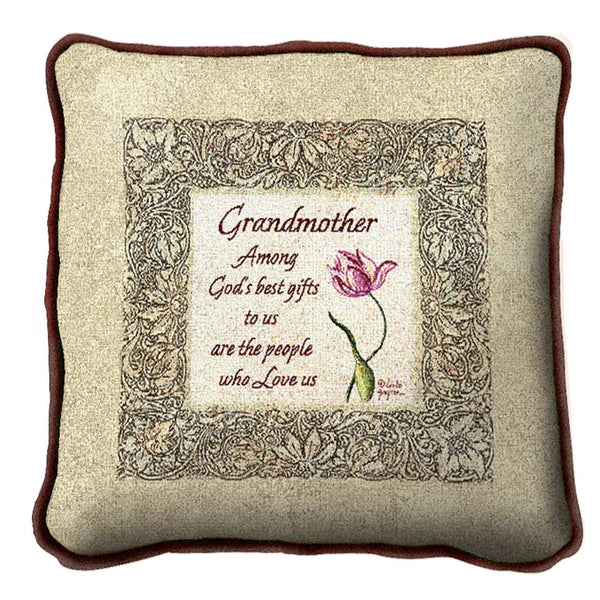 Throw Pillow-17 x 17-Friends-Family-Grandmother