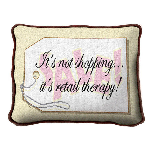 Throw Pillow-12 x 8-Positive Thoughts-Shopping