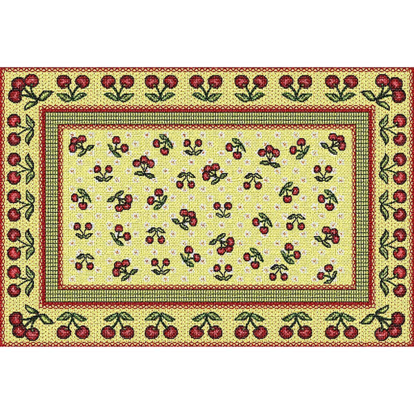 Table Linen-Placemat-Cozy Home-Cherries Jubilee