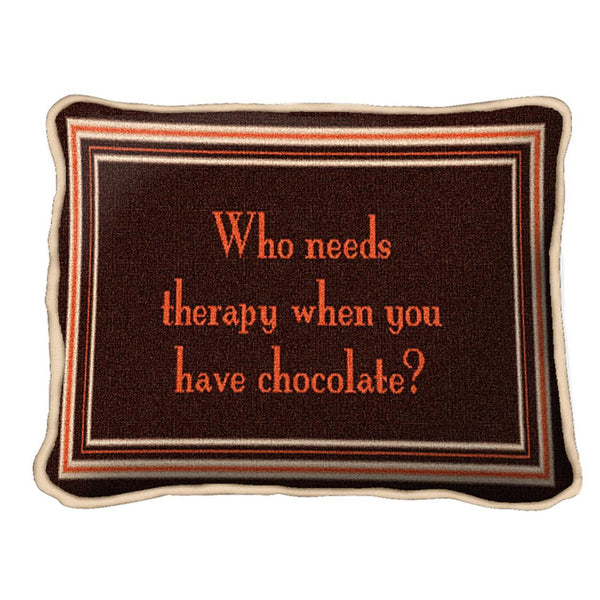 Throw Pillow-12 x 8-Positive Thoughts-Chocolate Therapy