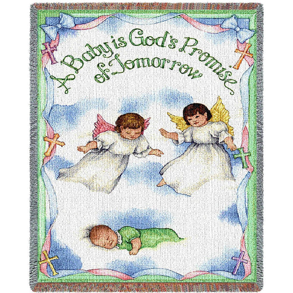 Throw Blanket-35 x 54-Woven Tapestry-Babies-Children-God's Promise