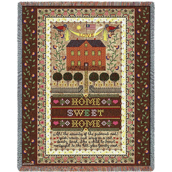 Throw Blanket-Americana-Home Sweet Home-The Cozy Home