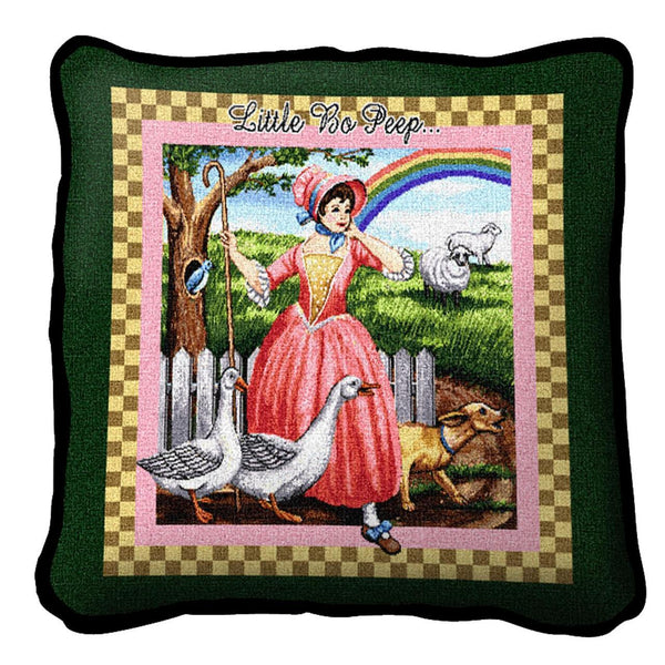 Throw Pillow-17 x 17-Babies-Children-Little Bo Peep
