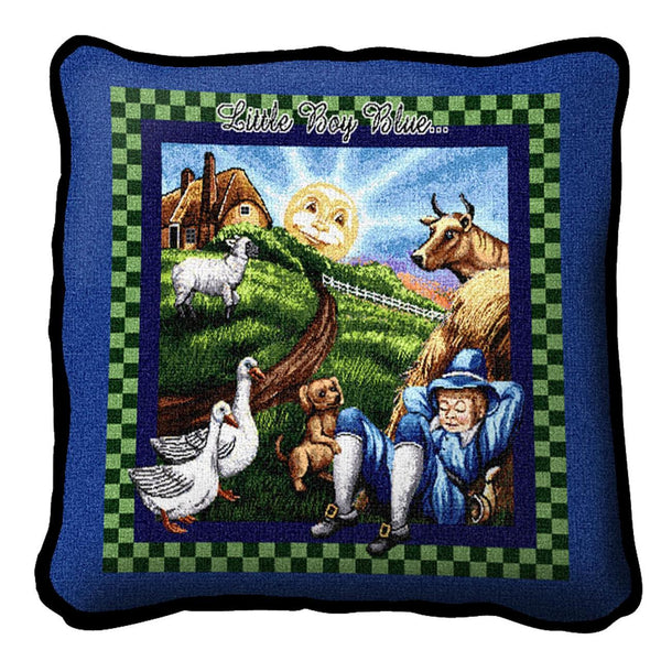 Throw Pillow-17 x 17-Babies-Children-Little Boy Blue