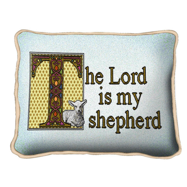 Christian Decor-Throw Pillow-12 x 8-The Lord is My Shepherd
