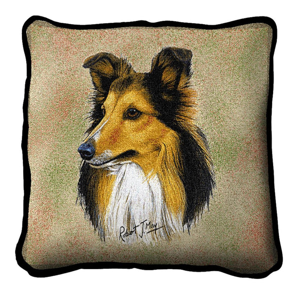 Throw Pillow-17 x 17-Animal Lover-Shetland Sheepdog