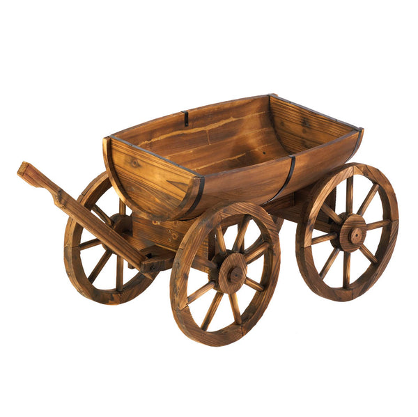 Garden Planter-Apple Barrel Wagon-The Rustic Look