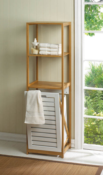 The Bath-Hamper Storage Shelves
