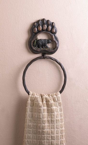 The Bath-Towel Ring-Black Bear Paw