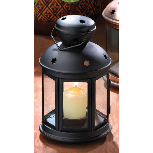 Lantern-Colonial Candle Lamp-Black-Cozy Home