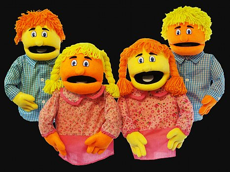 Blacklight Puppets-The Sparkle Family