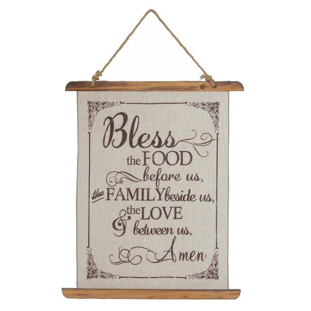 Wall Hanging-Bless the Food-Christian Decor