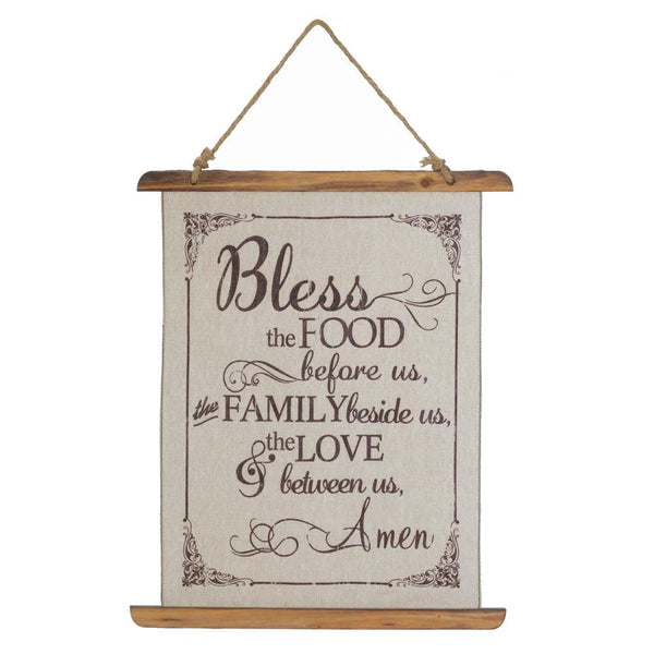 Wall Hanging-Bless the Food