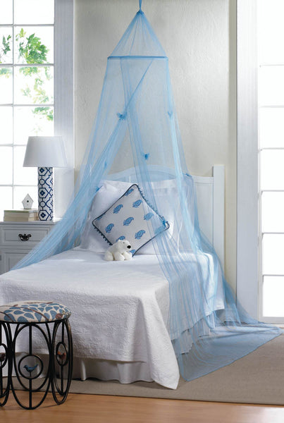 Bed Canopy-Blue Butterflies