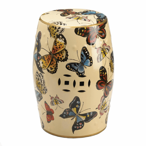 Decorative Stool-Butterflies in Flight