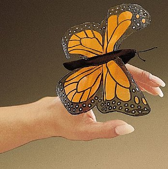 Bug Puppet-Finger-Mini Monarch Butterfly