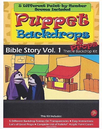Puppet Backdrop Kit-Bible Story Volume 1