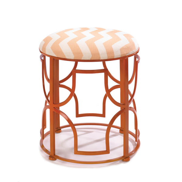 Decorative Stool-Chic Chevron