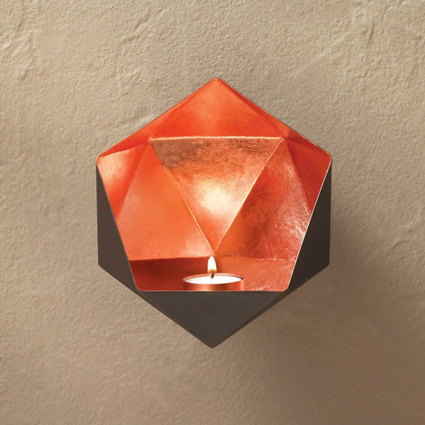 Wall Sconce-Copper-Geometric