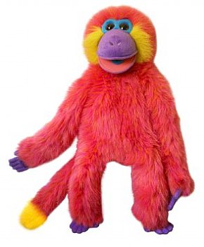 Animal Puppet-Cheerful Coral-Magic Monkey