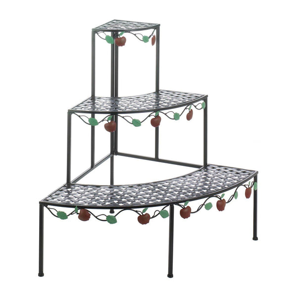 Plant Stand-Indoor-Patio Use-3 Tiered-Country Apple