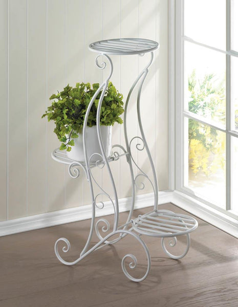 Plant Stand-Iron-3 Tier-Curlicue Style-Green Thumb