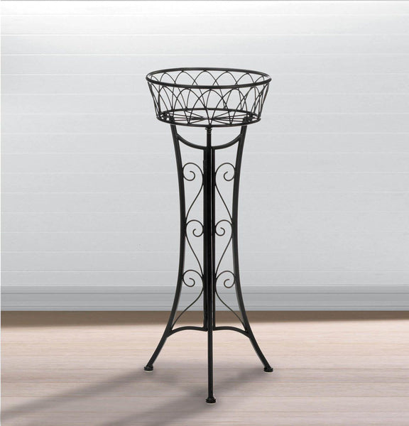 Plant Stand-Single Plant-Iron-Curlicue